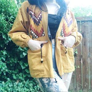Aztec Mustard Colored Jacket